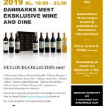 Duclot RE-Collection 2007 Wine and Dine på Dragsholm Slot d. 10 Januar 2019