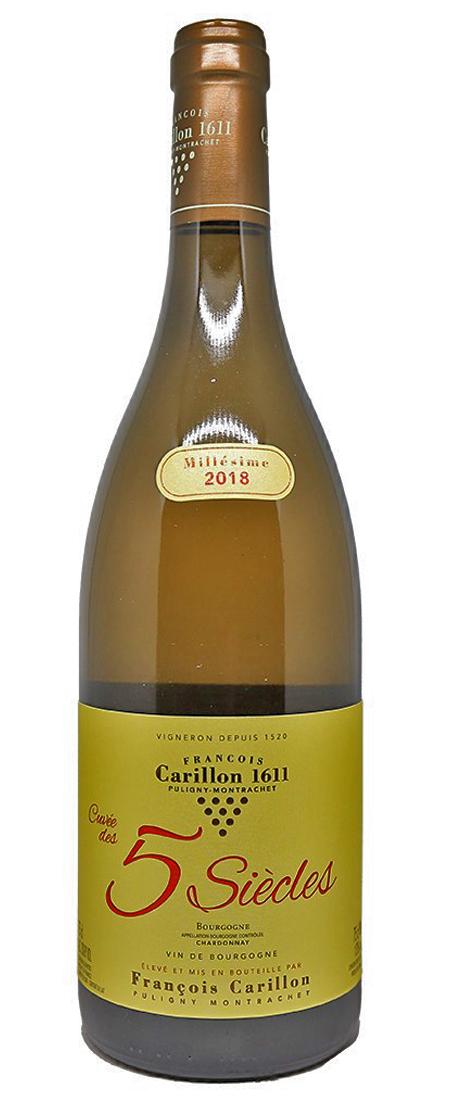 Bourgogne, Domaine Francois Carillon, Chardonnay, Cuvée 5 Siecles 2018
