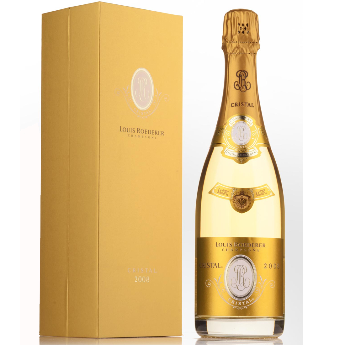 Champagne, Louis Roederer, Cristal 2008 i Gaveæske