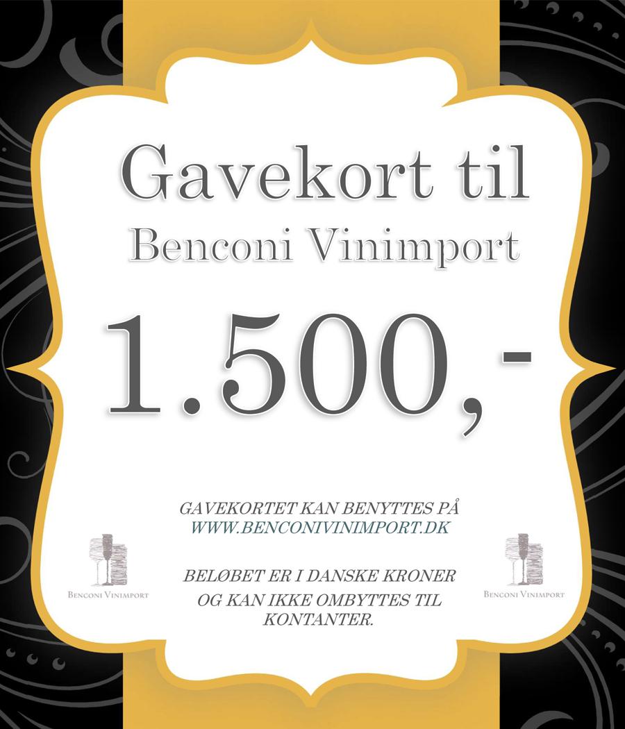 Gavekort kr. 1500