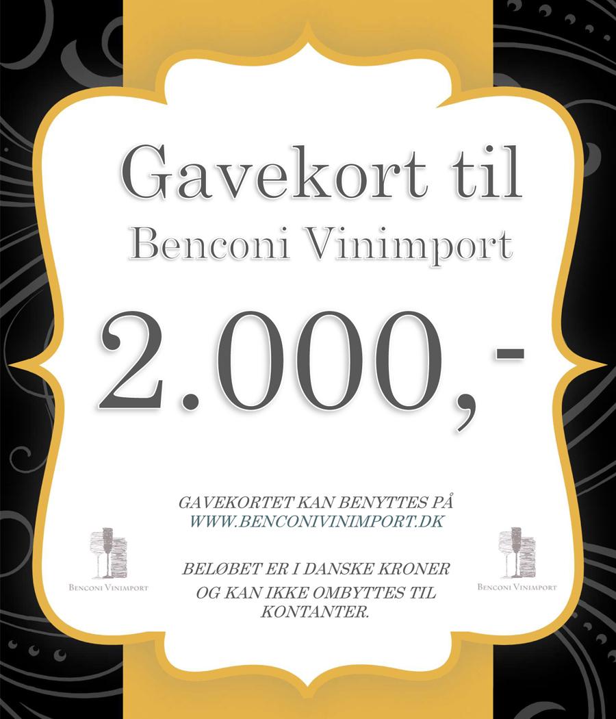 Gavekort kr. 2000