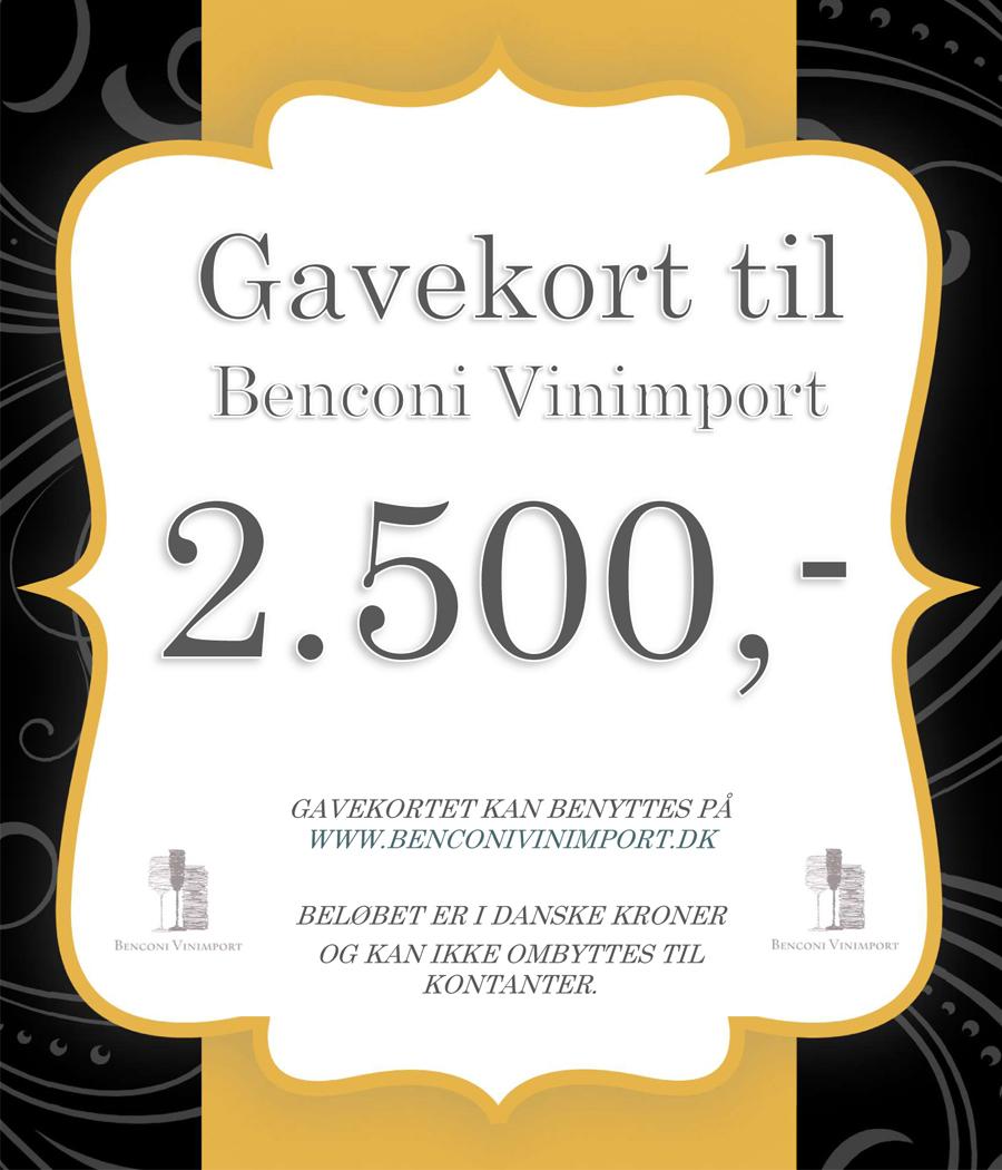 Gavekort kr. 2500
