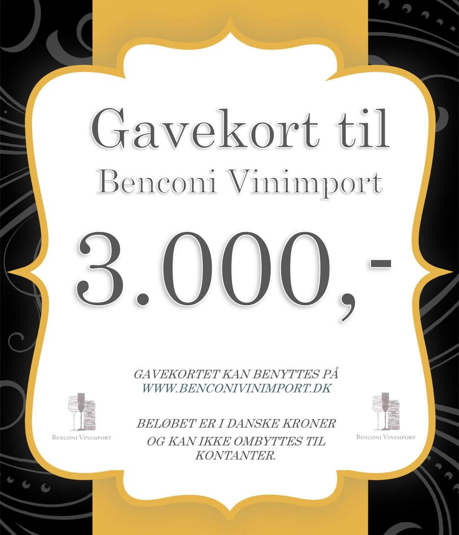 Gavekort kr. 3000