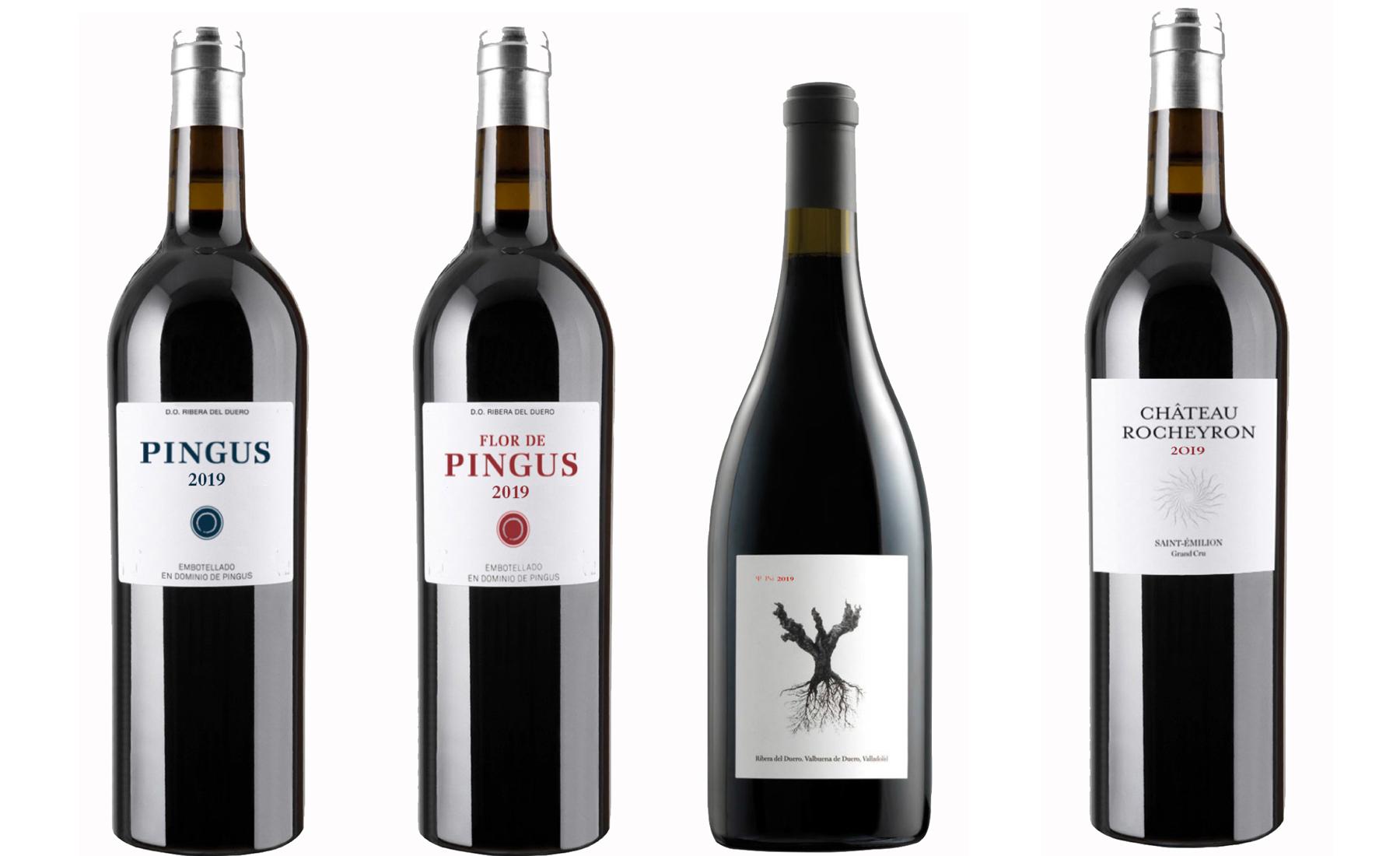 Ribera del Duero, 12 fl. PSI & 6 fl. Flor de Pingus 2020 & 6 fl. Rocheyron 2020 & 1 fl. Pingus 2020